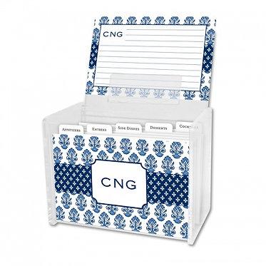 Beti Navy Recipe Box With Cards