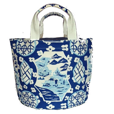 Canton In Blue Bucket Tote