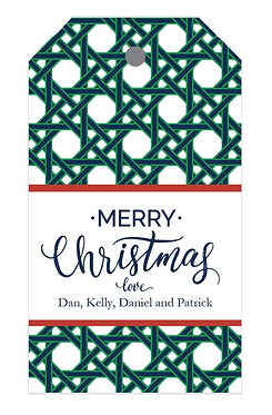 Christmas Cane Pattern Gift Tags