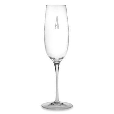 Monogrammed Champagne Luigi Bormioli Glasses, 8.25oz, SET OF 4
