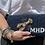 Thumbnail: Custom Lobster Monogram Envelope Beaded Clutch Handbag With Chain Strap