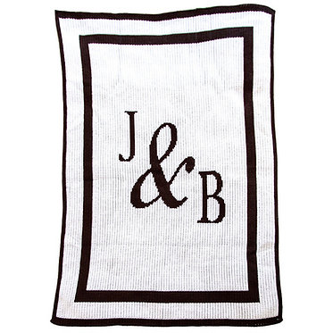 You & Me Initials Monogram Blanket By Butterscotch Blankees