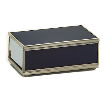 Cobalt Metal and Glass Decorative Matchbox Cover