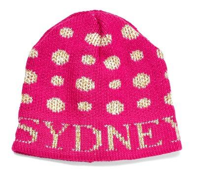 Metallic Polka Dot Name Monogram Hat