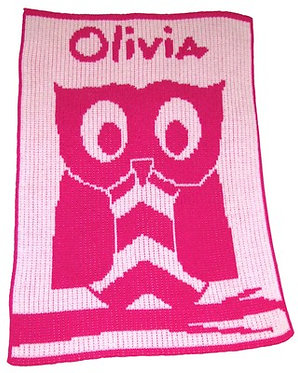 Owl Name Blanket By Butterscotch Blankees