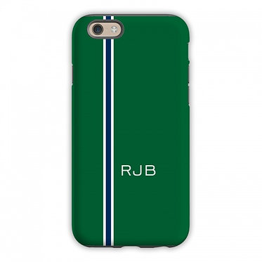 Boatman Geller Racing Stripe Hunter & Navy Phone Case