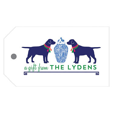 Ginger Jar + Dogs Gift Tags