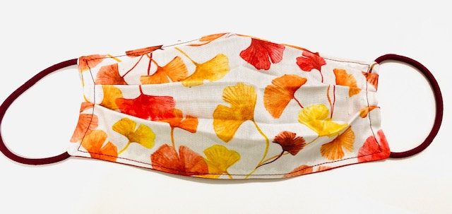 Ginkgo Fall Leaves Face Mask - Multiple Sizes - Filter or Classic