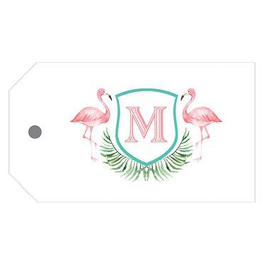 Watercolor Pink Flamingo Gift Tags