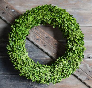 "24"" Preserved Boxwood Wreath"