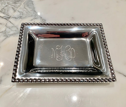 Engraved Monogrammed Extra Small Infinity Edge Tray