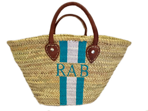 Hand Painted Monogram Tote Large