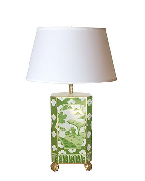 Canton in Green Lamp with Shade