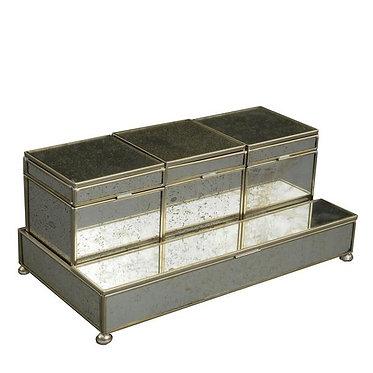 Antique Mirror Three Box Vanity Set