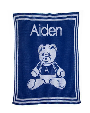Teddy Bear Name Blanket By Butterscotch Blankees