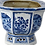 Thumbnail: Blue & White Porcelain Large Hexagon Planter - Bird | Floral