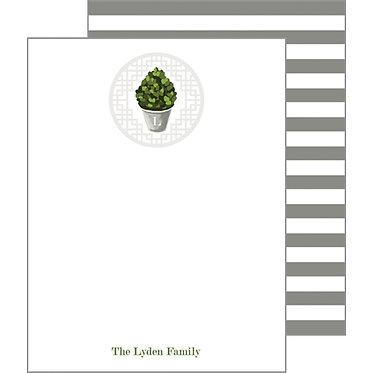 Boxwood Stripe Flat Notecards