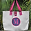 Thumbnail: COLE Medium Tote with Dot Applique and Embroidered Monogram