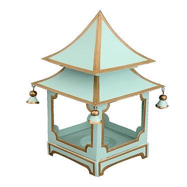 Parisian Blue & Gold Candle Pagoda (2 Sizes)