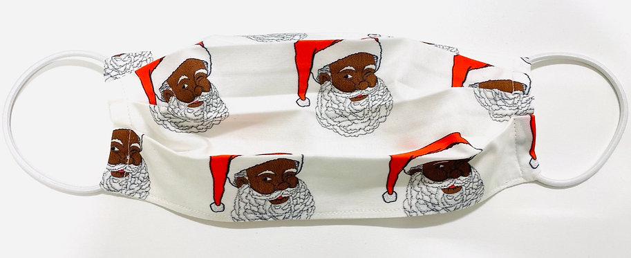 African American Santa Face Mask - Multiple Sizes - Filter or Classic