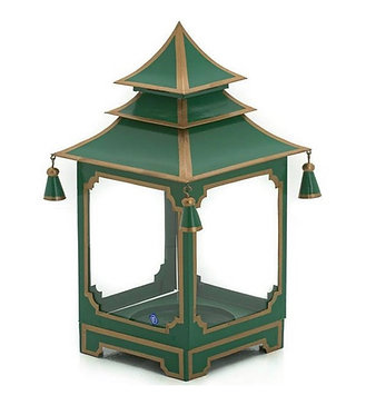 Christmas Green and Gold Candle Pagoda (2 Sizes)