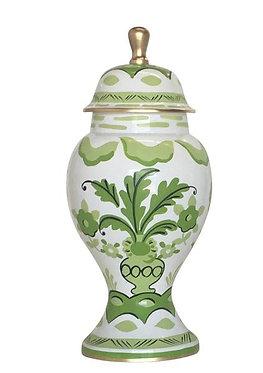 Sullivan Green Ginger Jar