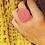 Thumbnail: Custom Monogram Vineyard Round Ring
