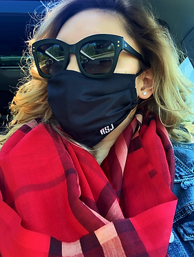 Solid Color Monogrammed or Plain Fabric Face Mask - Multiple Sizes