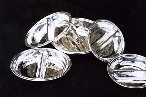 HÔTEL Silver Oval Divided Dish - Two Sizes Available