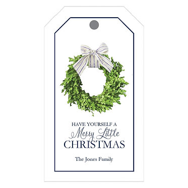 Boxwood Wreath Gift Tags