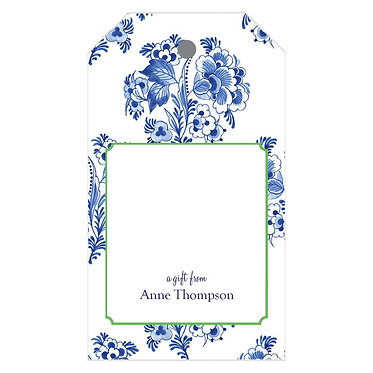 Blue and White Floral Gift Tags