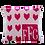 "Thumbnail: Lots of Hearts 15"" x 15"" Custom Name Pillow"