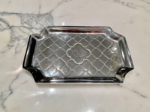 Engraved Casablanca Monogrammed Classic Vanity Tray