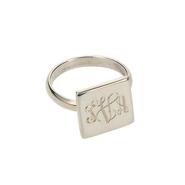 Sterling Silver Ring Square Round or Oval