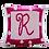"Thumbnail: Polka Dot Border 15"" x 15"" Custom Name Pillow"
