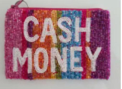 Custom Monogram Name Beaded Key Chain Key Fob Coin Purse