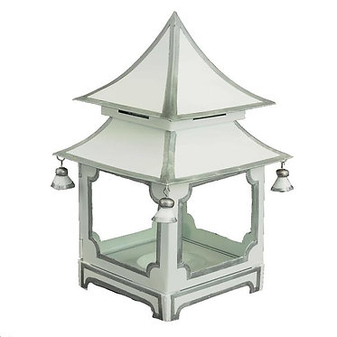 White & Silver Candle Pagoda (2 Sizes)