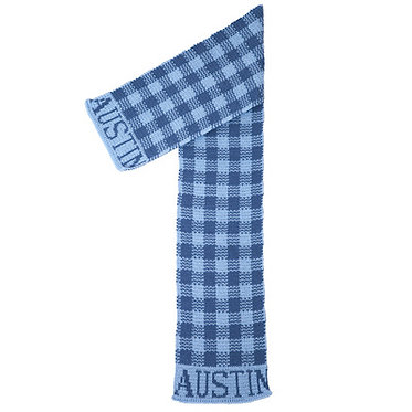 Gingham Name Scarf