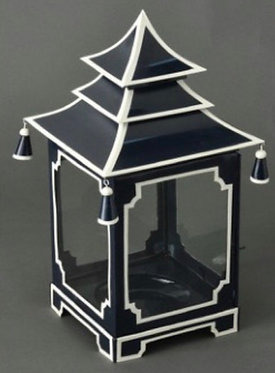 Navy and White Candle Pagoda (2 Sizes)