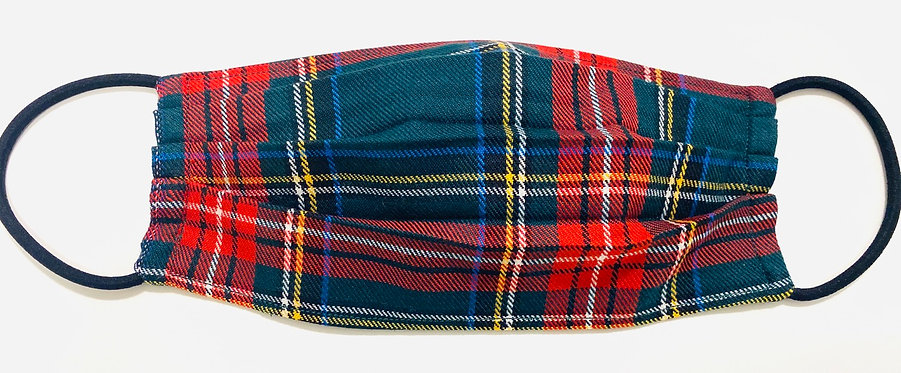 Tartan Green Face Mask - Multiple Sizes - Filter or Classic