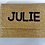 "Thumbnail: Custom Monogram Large Bead Flap Clutch Handbag 7""x10"""