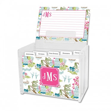 Chinoiserie Spring Recipe Box With Cards