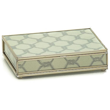 Gray Knot Playing Card Storage Box With Two Decks of