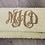 Thumbnail: Pearl Custom Monogram Envelope Beaded Clutch Handbag With Chain Strap
