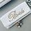 "Thumbnail: Custom Monogram Envelope Beaded Clutch Handbag 4""x9"""