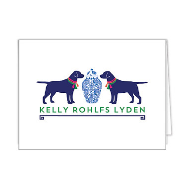 Ginger Jar + Dogs Personalized Foldover Notecards