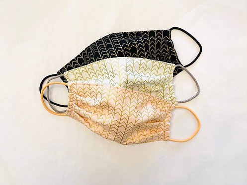Metallic Arrow Fabric Face Mask - Multiple Sizes - Filter or Classic