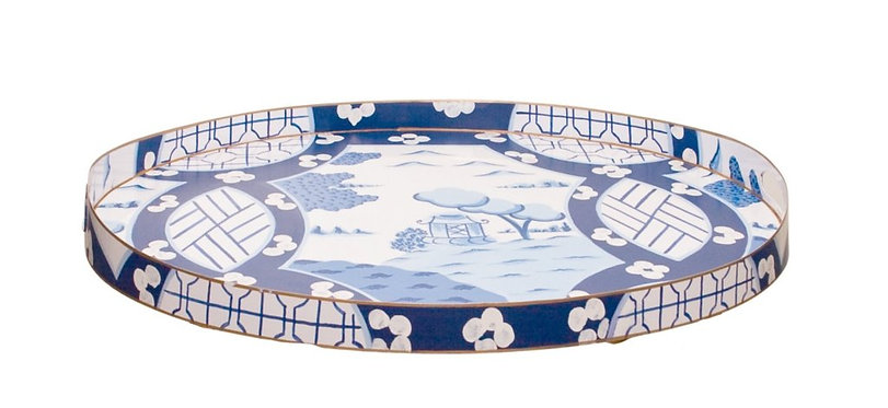 Canton in Blue Large Oval Tray