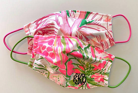 Lilly Pulitzer Fabric Face Mask - Multiple Sizes - Filter or Classic