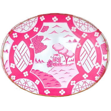 Canton in Pink Large Oval Tray